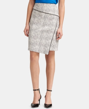 Dkny Printed Asymmetrical Pencil Skirt