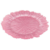 The Jay Companies Reef Glass Charger Plate, Pink