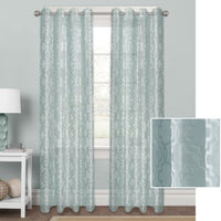 Better Homes & Gardens Sheer Velvet Cross Cut Trellis Window Curtain Panel