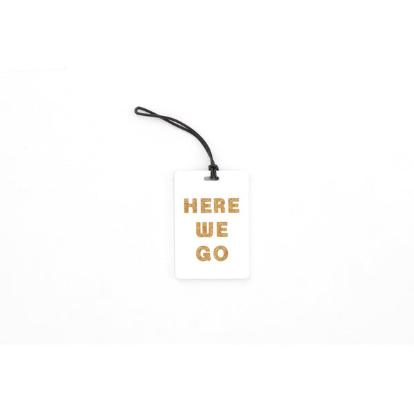 Path Luggage Tag - Here we go, Blue/Gold/White