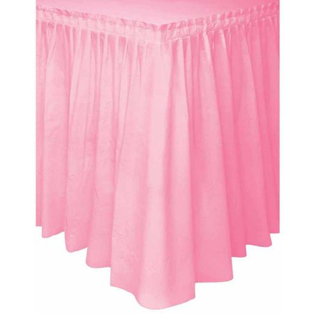 Unique Party Plastic Lovely Light Pink Table Skirt
