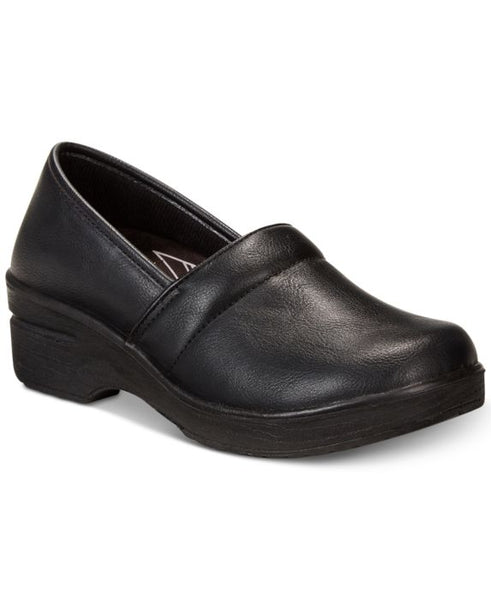 Easy Works By Easy Street Lyndee Slip Resistant Clogs, Black, Size: 6.5WW