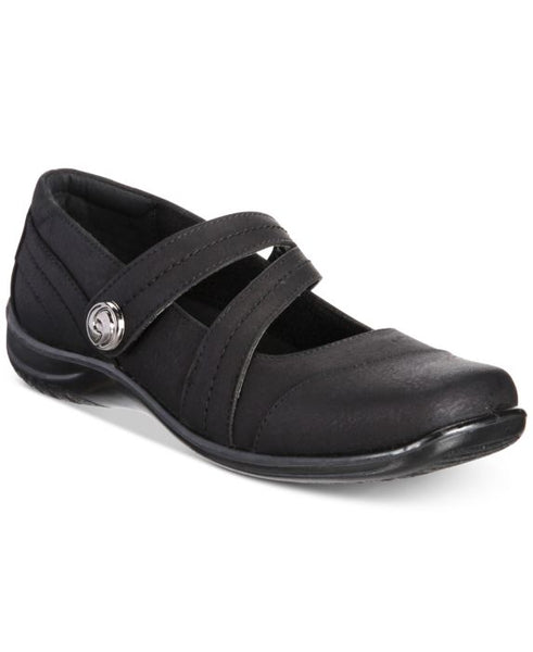 Easy Street Mary Flats, Black, Size: 7.5W