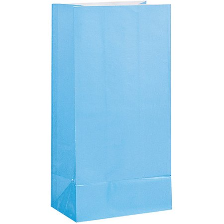 Unique Party Paper Luminary & Party Bags, Baby Blue