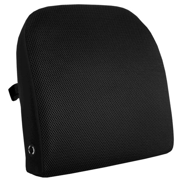 Advantus Memory Foam Massage Lumbar Cushion-Black