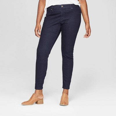 Universal Thread Women's Plus Size Jeggings -Dark Blue