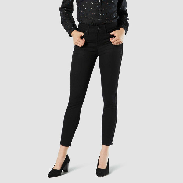 DENIZEN from Levi's Women's High-Rise Ankle Skinny Jeans - Black