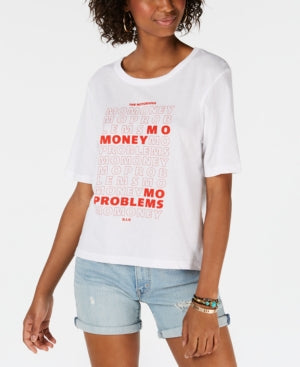 The Notorious B.i.g. Crew Neck Mo Money Graphic White Red L