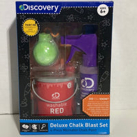 Discovery Kids Deluxe Chalk Blast Set - 4-Piece Washable Chalk Paint Ages 6+