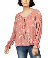 American Rag Juniors' Lace-Trim Poet Blouse,  L