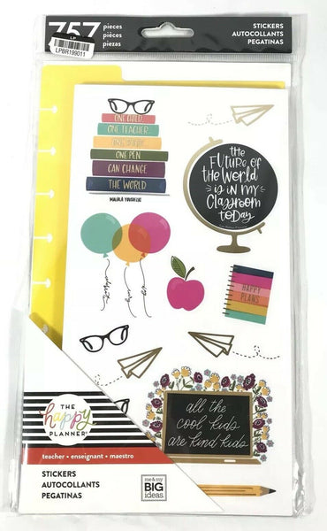 The Happy Planner Teacher Stickers 757 Pieces Set