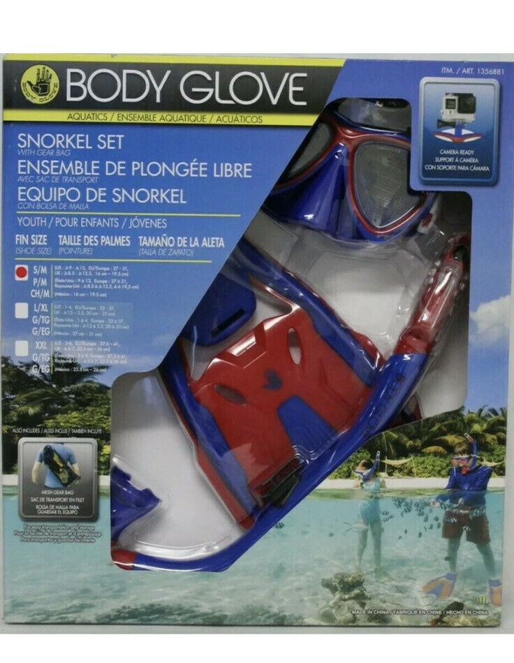 Body Glove- Snorkel Set With Gear Bag Used/Open Box