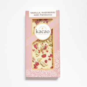 Vanilla Raspberry & Pistachio Chocolate Bar