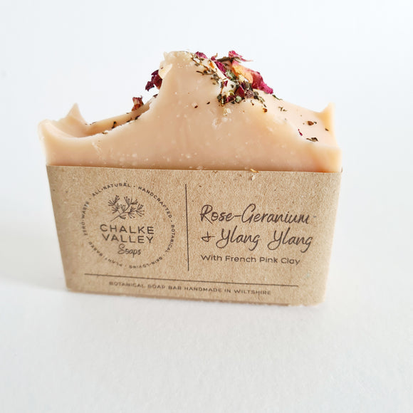 Rose Geranium & Ylang Ylang French Clay Soap