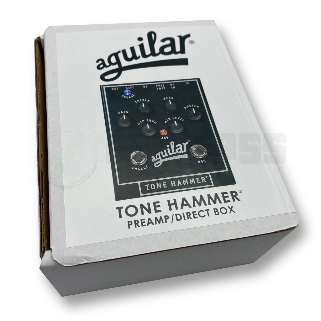 View of Box of Aguilar Tone Hammer Preamp/DI Pedal for Bass Guitar