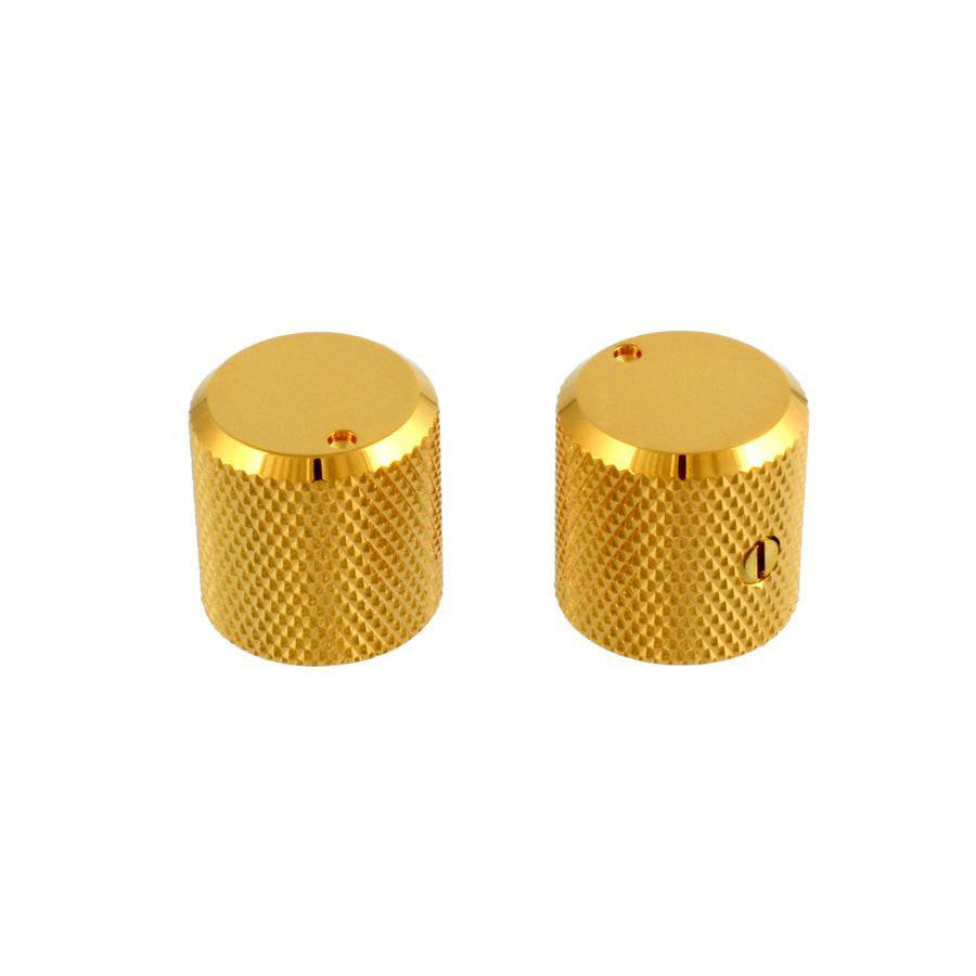 Metal Beveled Knob Gold for Bass Guitar