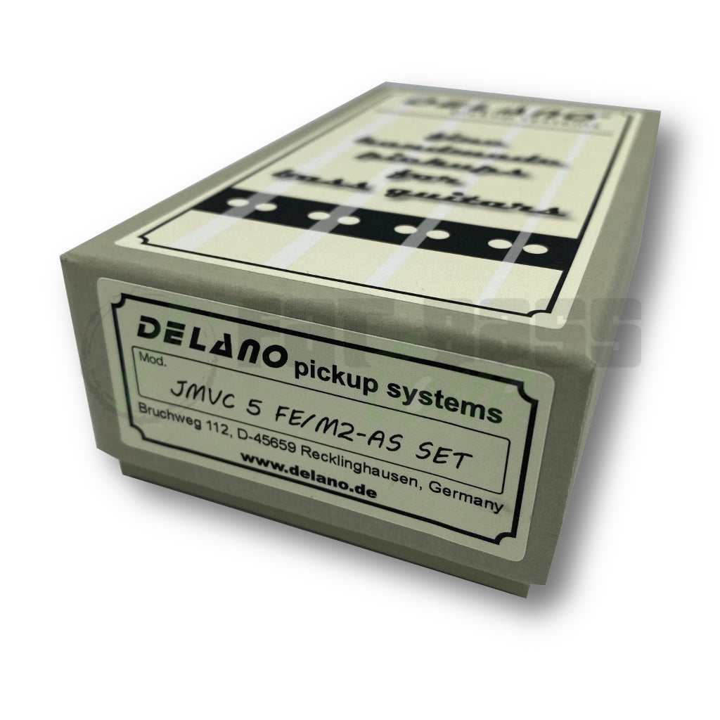 View of Packaging of Delano JMVC5 FE/M2-AS 5 String Jazz Bass® Pickups for Fender American Standard