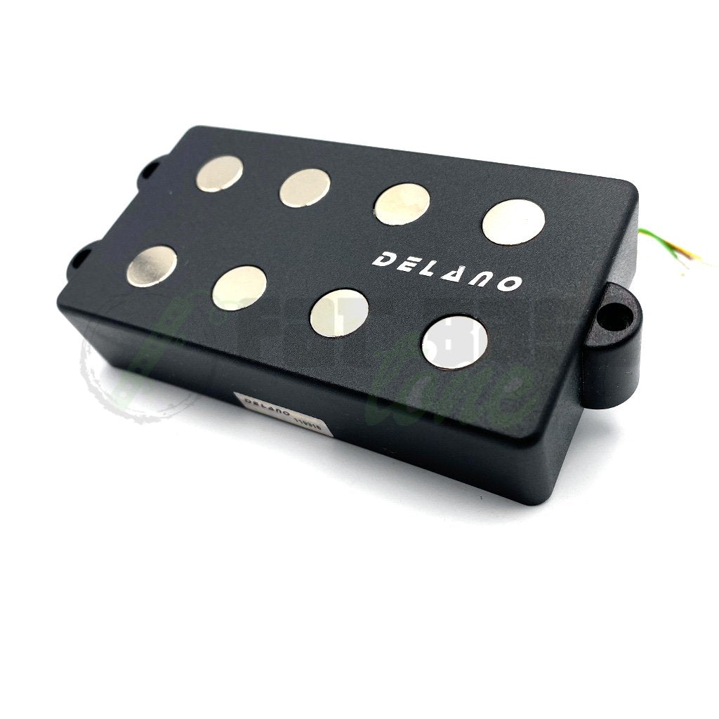 View of Front of Delano MC4 FE/M2 4 String Music Man® Pickups