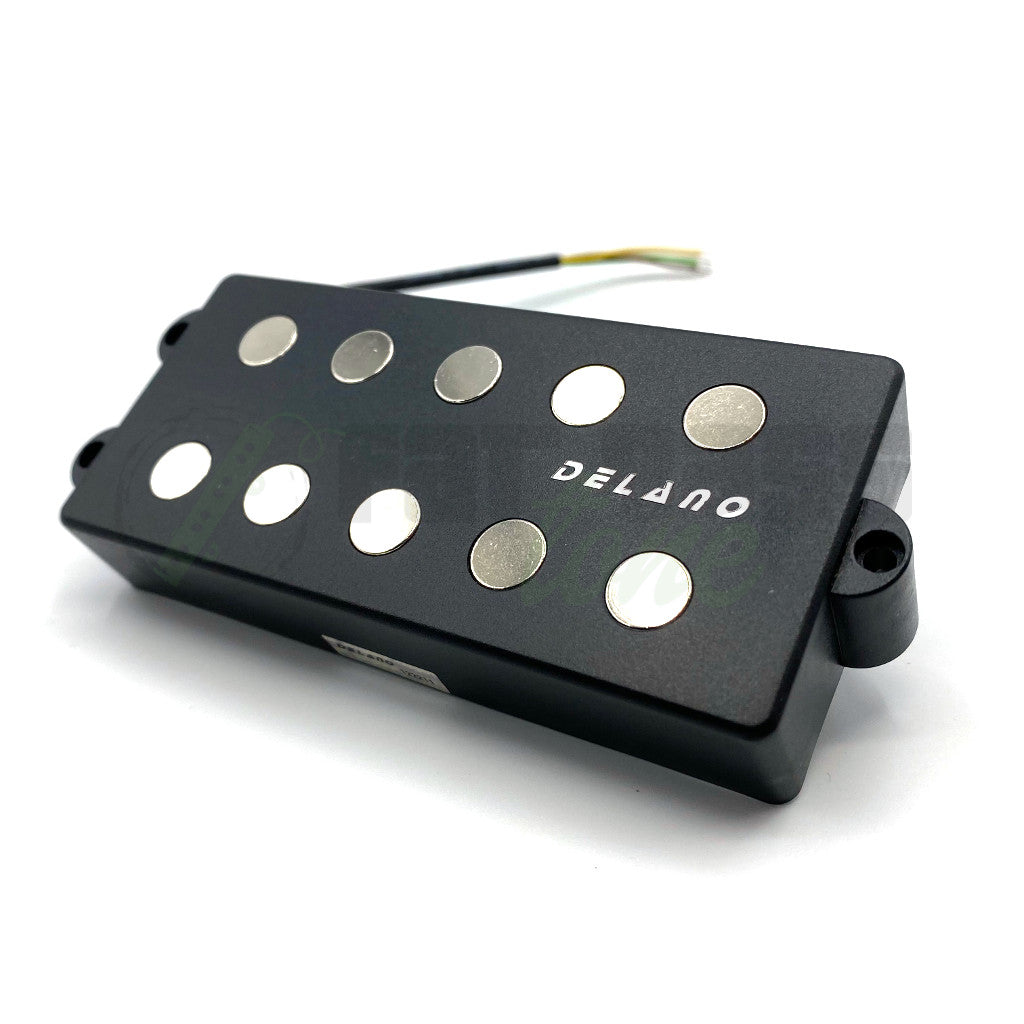 front view of Delano MC5 5 String Quad Coil Bass Pickup for Lakland