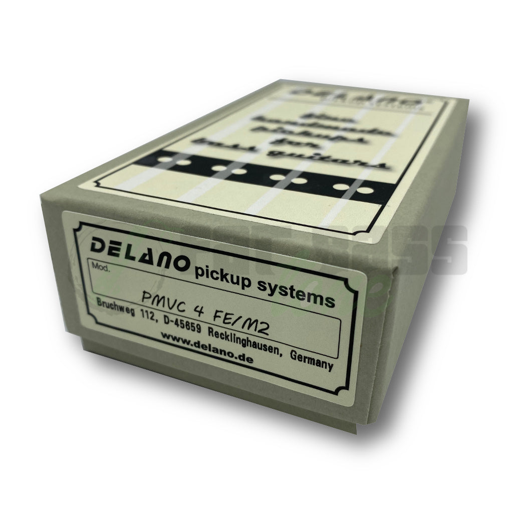 View of Packaging of Delano PMVC4 FE/M2 4 String Precision Bass® Pickup