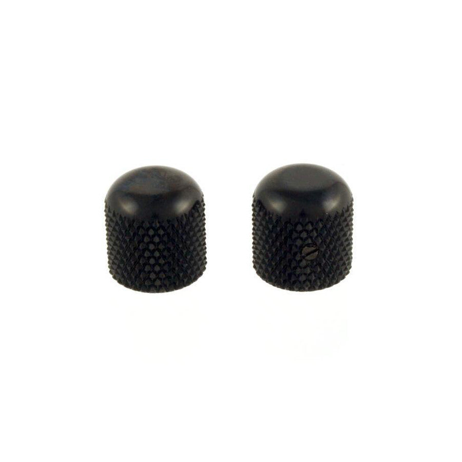 Metal Dome Knob Black for Bass Guitar