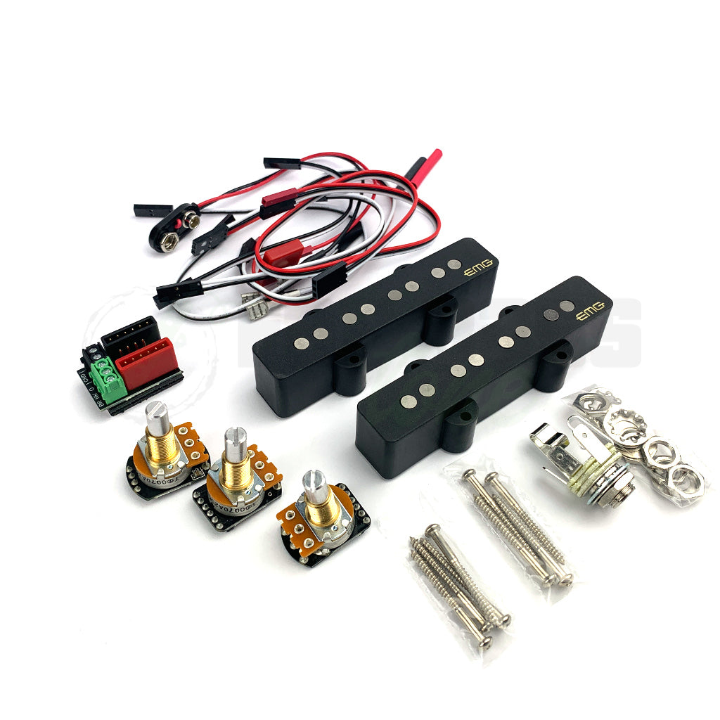 all component view of EMG JV 4 String Jazz Bass Pickups
