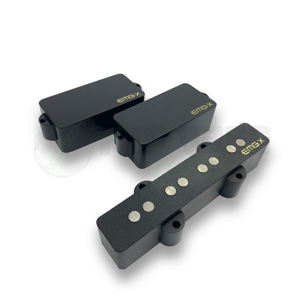 front view of EMG Victor Wooten PJ Bass Pickup Set