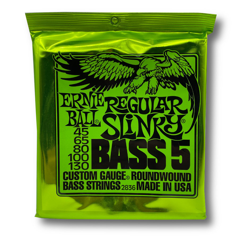 View of Packaging of Ernie Ball 2836 Regular Slinky 4 String Set for Bass Guitar