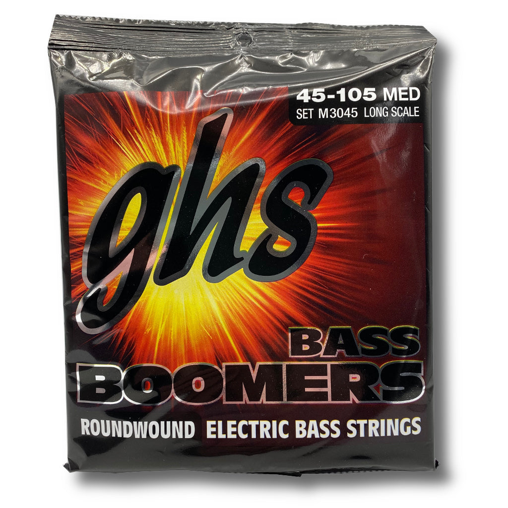 View of Packaging of GHS Strings Bass Boomers M3045