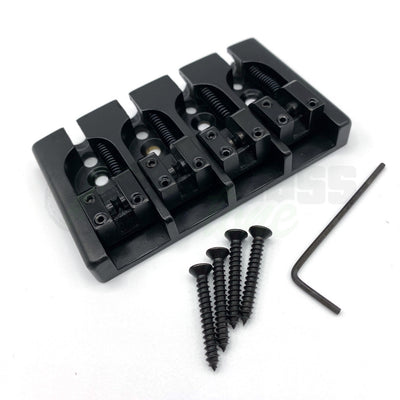 Hipshot A Style 4 String Black Bridge for Bass Guitar