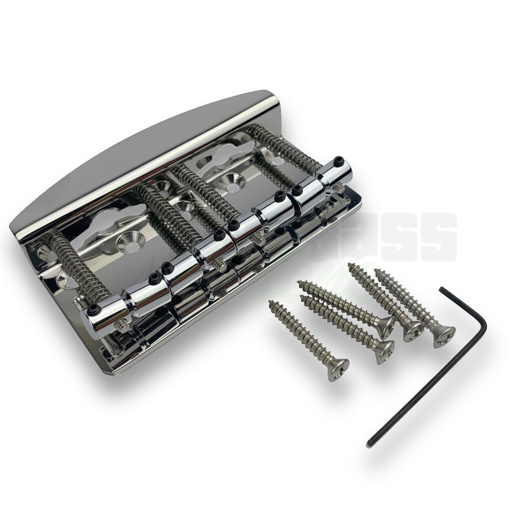 Hipshot Vintage Bass Bridge 4 String in Chrome
