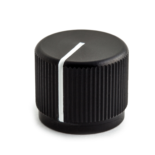 Black Aluminum Knob with indicator
