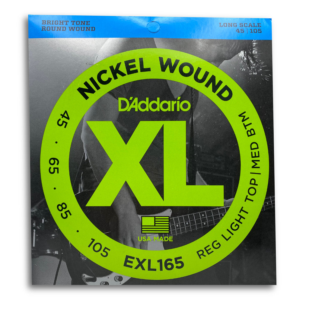 View of Packaging of D'Addario EXL165 4 String Bass Strings Set