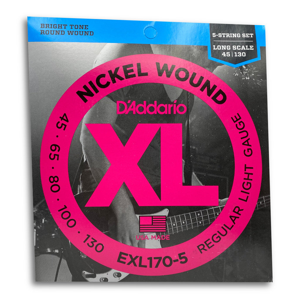 View of Packaging of D'Addario EXL170-5 5 String Bass String Set