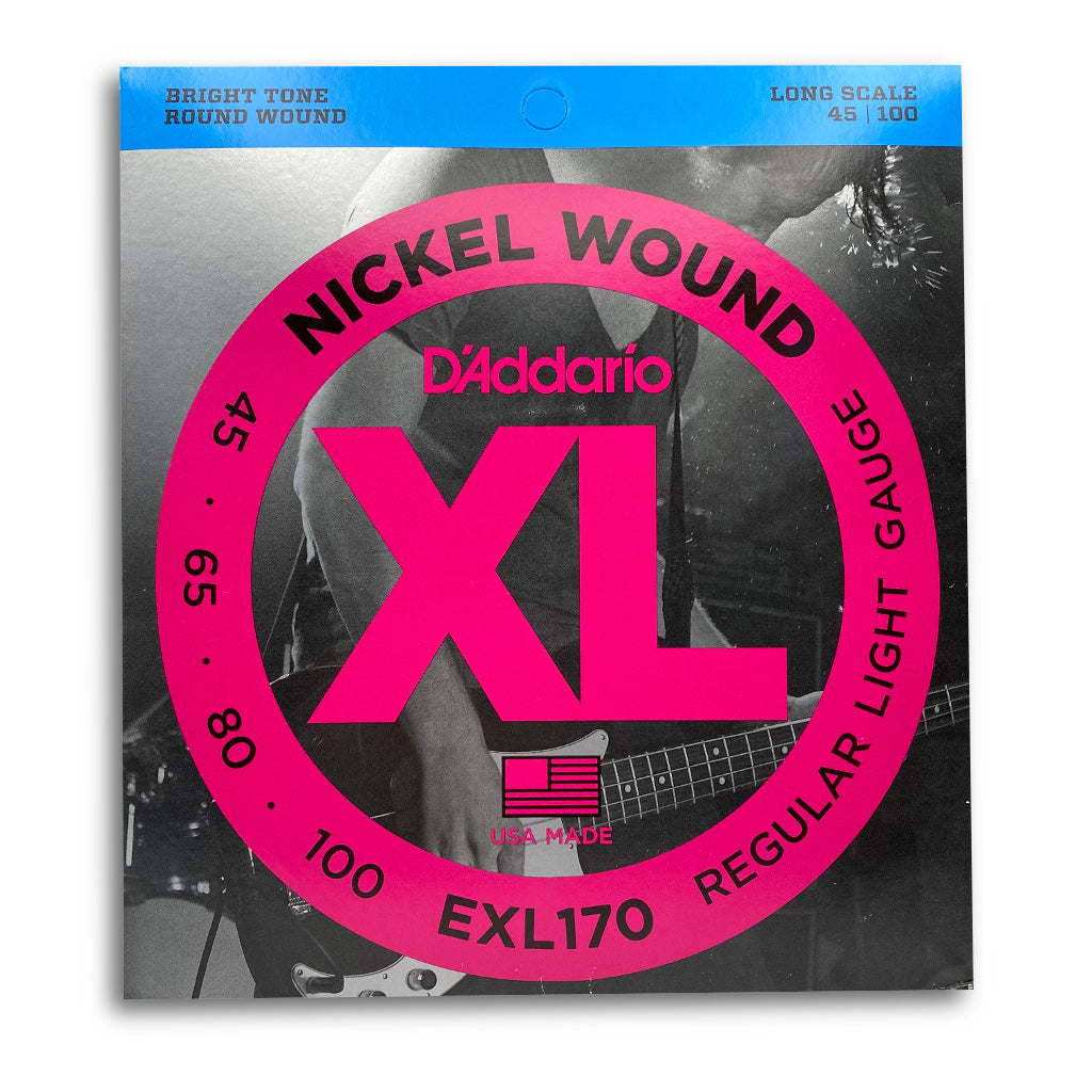 View of Packaging of D'Addario EXL170 4 String Bass String Set