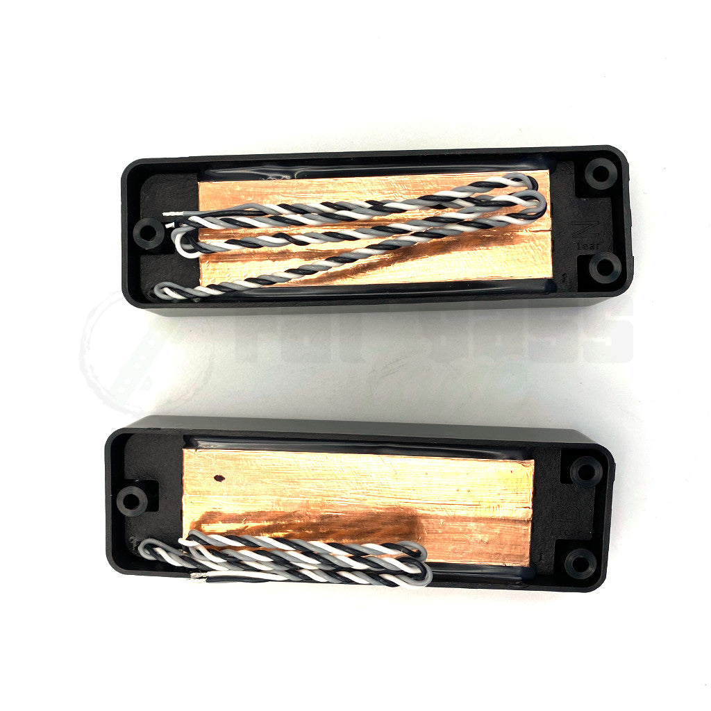 View of Back of Nordstrand Big Blade 5 Bass Pickups