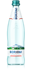 BORJOMI Natural Sparkling Mineral Water (glass bottle), 16.9oz / 495ml