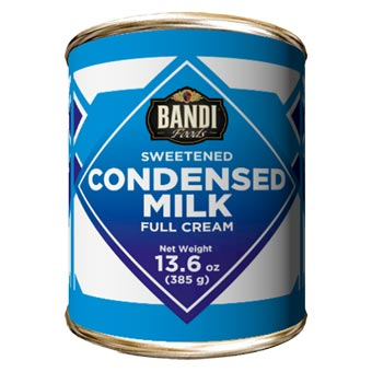 BANDI Full Cream Sweetened Condensed Milk, 13.6 oz/ 385g