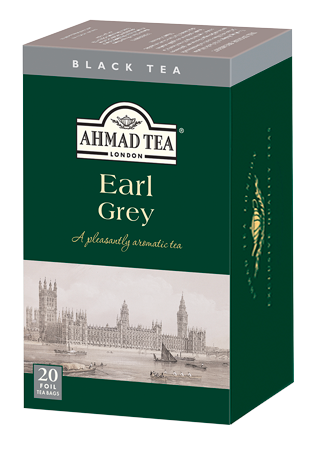 AHMAD TEA Earl Grey Black Tea, 20 teabags