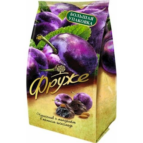 PRUNES with Almonds in Chocolate, 0.42lb/190g