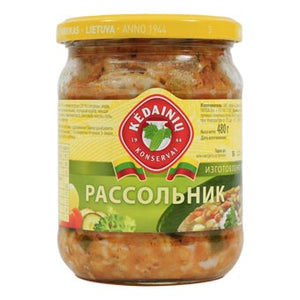 KEDAINIU Rassolnik Pickled Cucumber soup, 16.9oz/480g