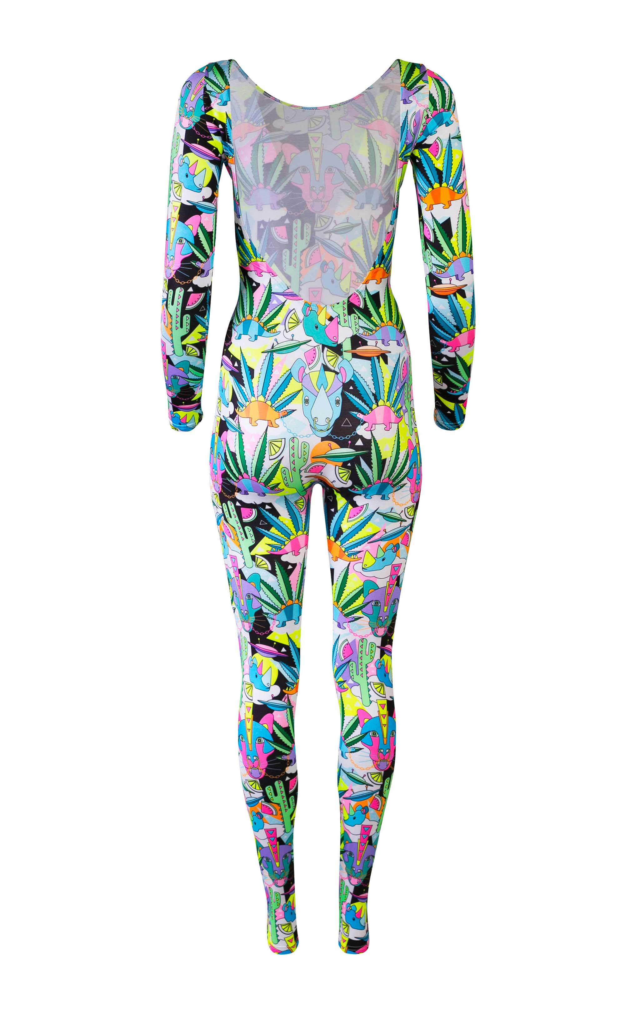 COSMIC CACTUS HOUSE OF SPANGLED PRINT BODYSUIT