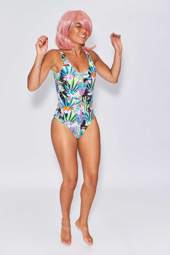 COSMIC CACTUS SWIMSUIT - www.houseofspangled.com
