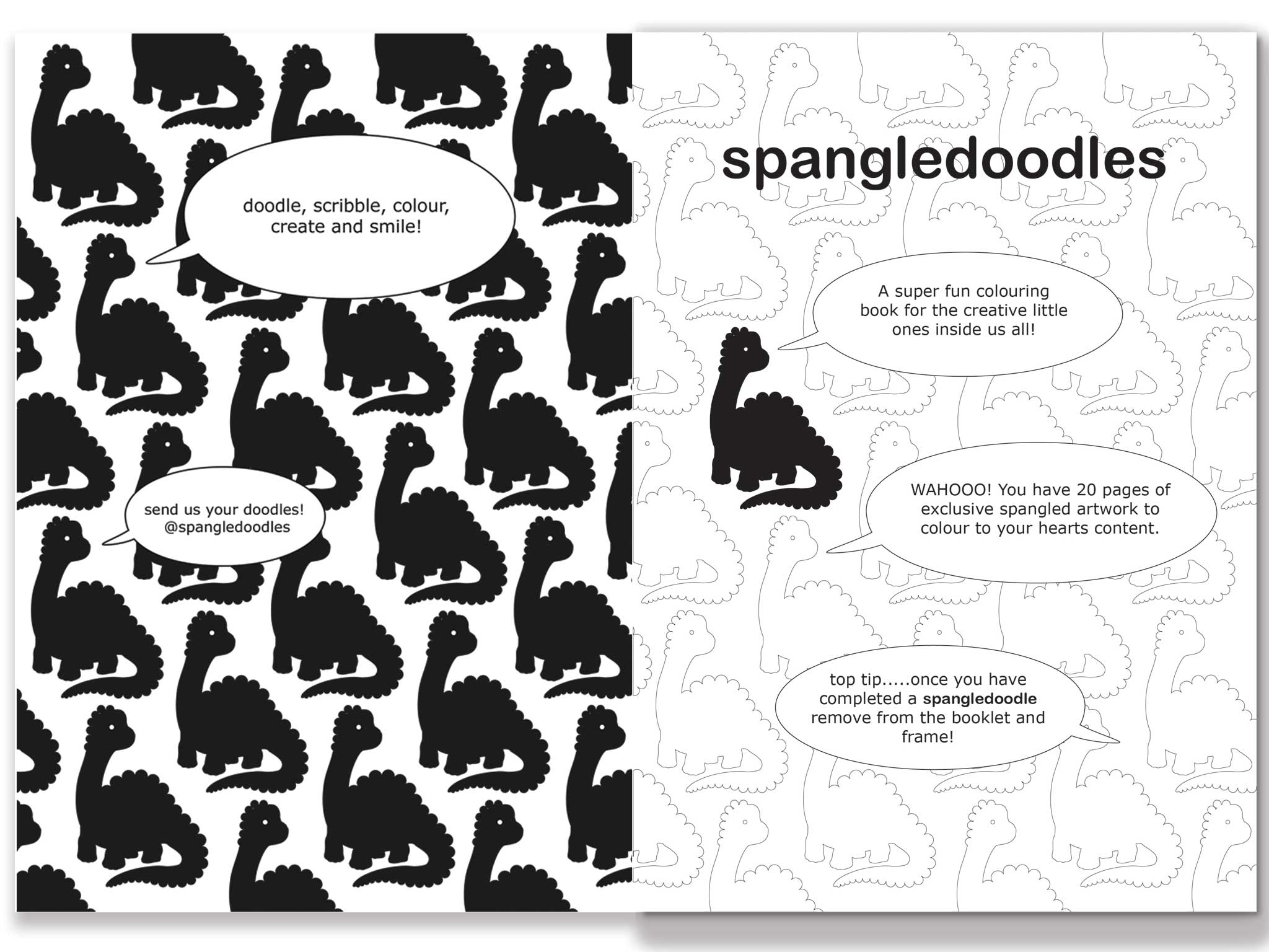 Spangledoodles Colouring Book