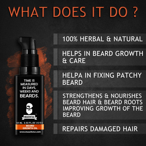 Muuchstac Beard Growth Oil - (60ml)