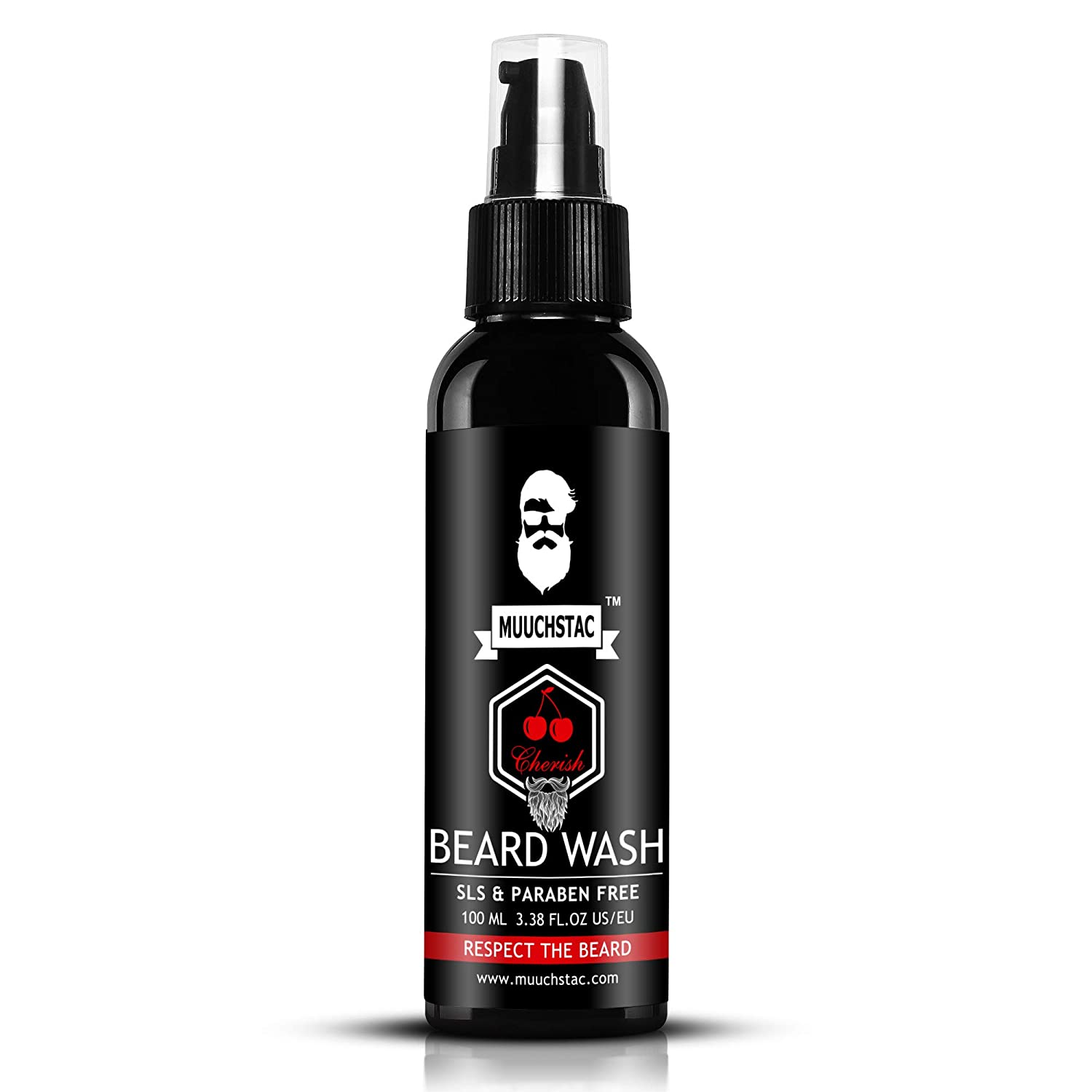 Muuchstac Beard Growth Oil and Cherish Beard Wash - Beard Growth Kit (160ml) - (Pack of 2)