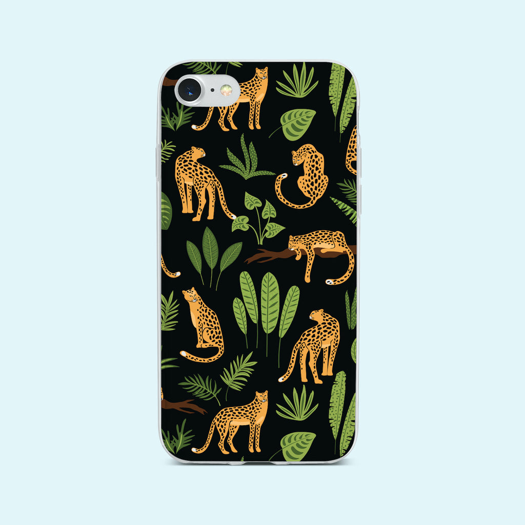 iPhone 7 case with Jaguar Jungle design made by Life By Design Creations front view