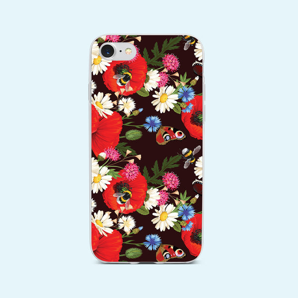 iPhone 7 case with Summer Flowers design made by Life By Design Creations front view
