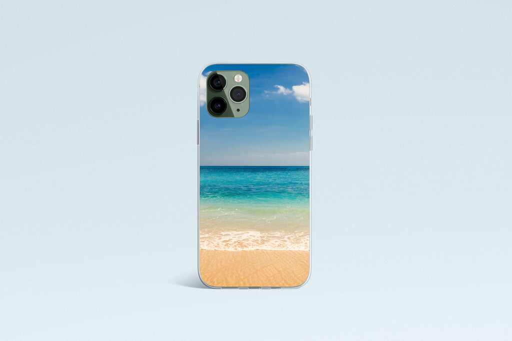 iPhone 11 Pro Max case with Beach and Ocean  design made by Life By Design Creations front view