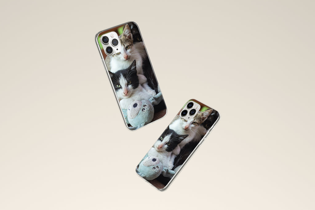 iPhone 11 Pro Max case with  Cozy Kittens design made by Life By Design Creations both sides view